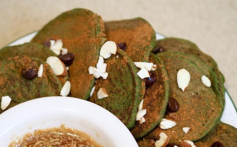 Matcha Spinach Pancakes
